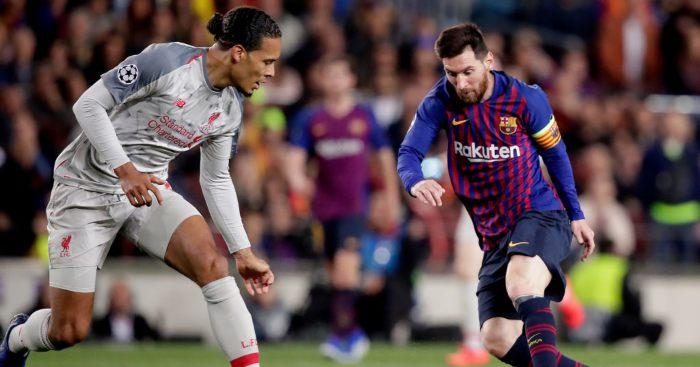 Virgil van Dijk Lionel Messi Liverpool Barcelona