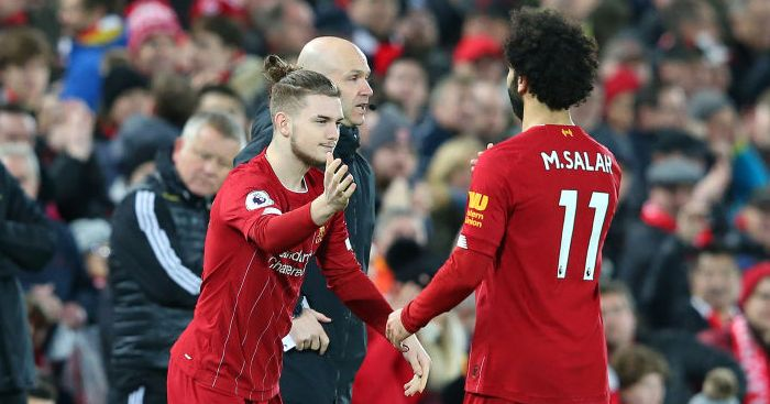 Harvey Elliott Mo Salah Liverpool