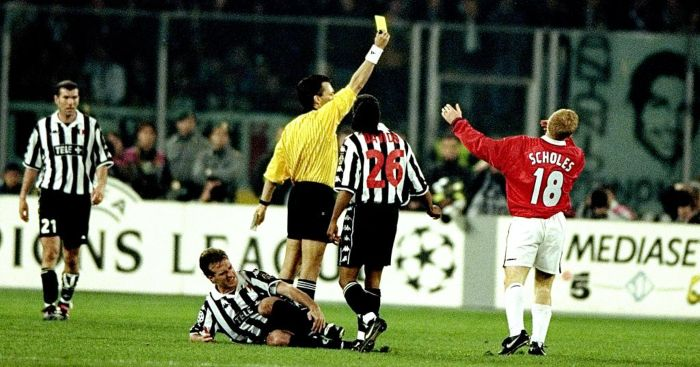 Paul Scholes Didier Deschamps Man Utd Juventus