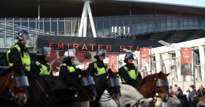 Emirates Stadium Arsenal police