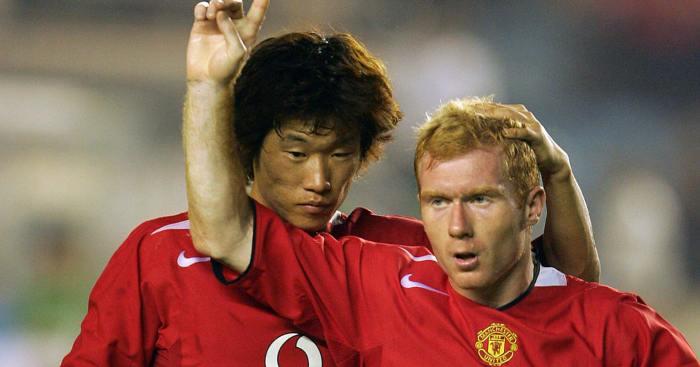 Park Ji-sung Paul Scholes Man Utd