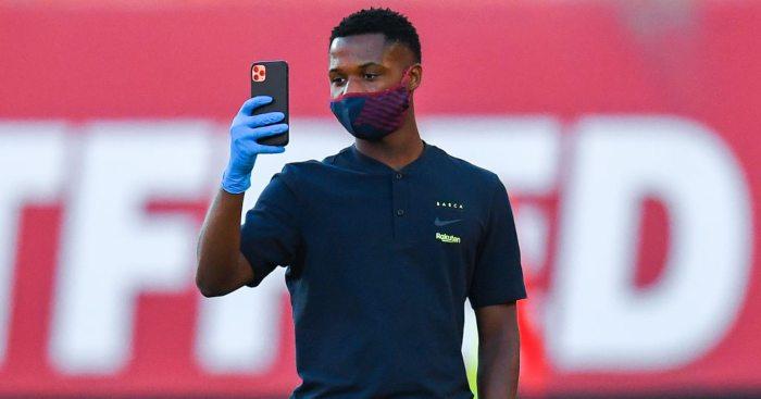 Ansu Fati Barcelona Man Utd
