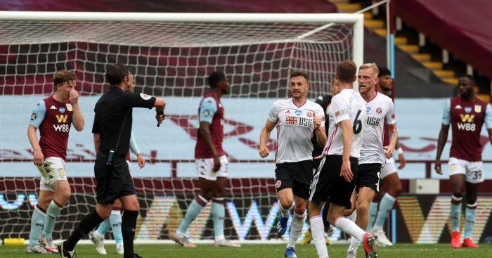 Michael Oliver Aston Villa Sheffield United goal-line technology