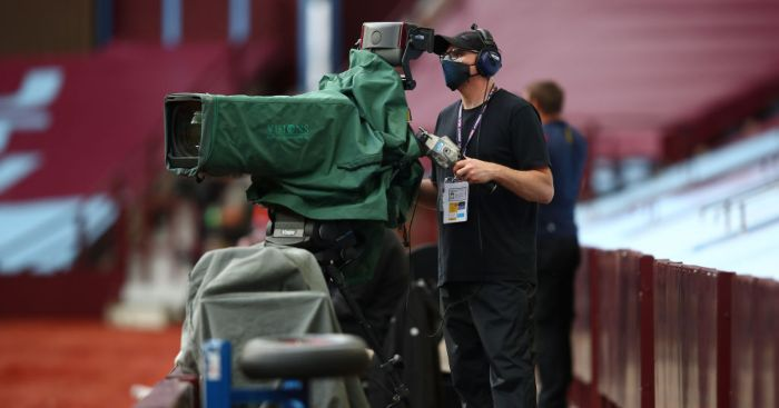 Aston Villa Premier League TV cameras