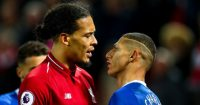 Richarlison Virgil van Dijk Liverpool Everton