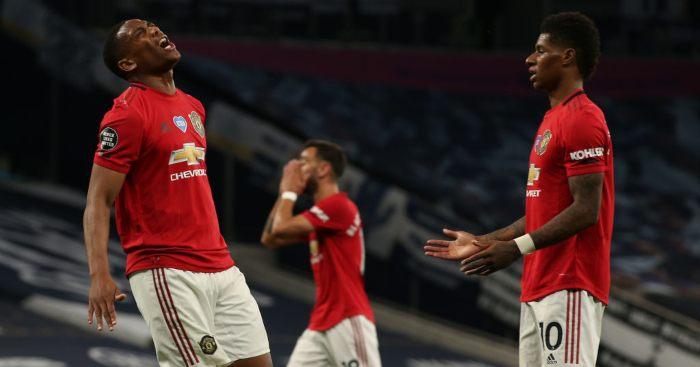 Marcus Rashford Anthony Martial Bruno Fernandes Man Utd