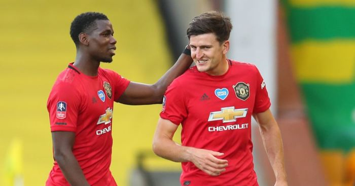 Harry Maguire Paul Pogba Man Utd