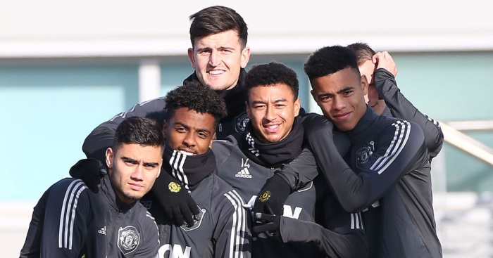 Angel Gomes Andreas Pereira Jesse Lingard Man Utd