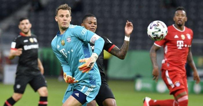 Leon Bailey Manuel Neuer Leverkusen Bayern Munich Man Utd