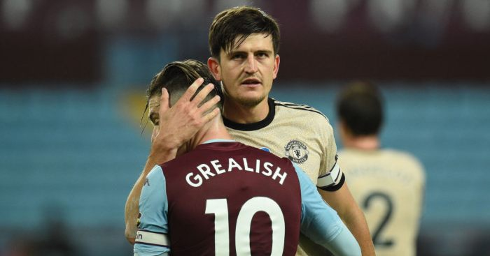 Jack Grealish Aston Villa Harry Maguire Man Utd