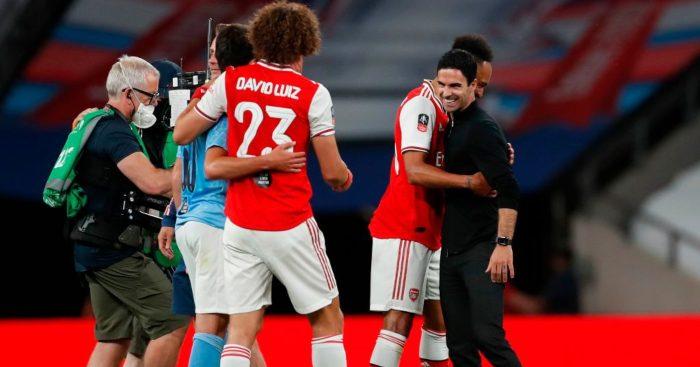 Mikel Arteta David Luiz Arsenal