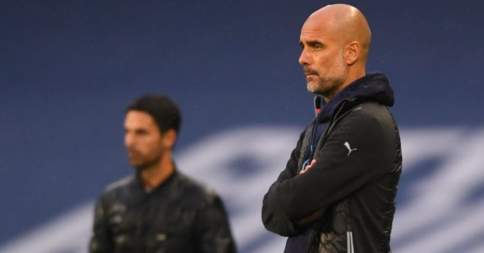 Pep Guardiola Mikel Arteta Man City Arsenal