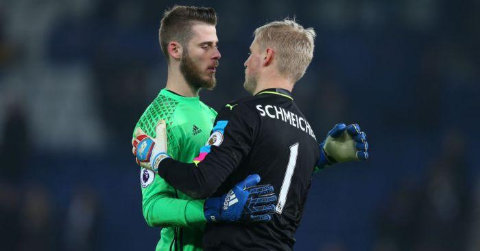 David de Gea Kasper Schmeichel Man Utd Leicester City