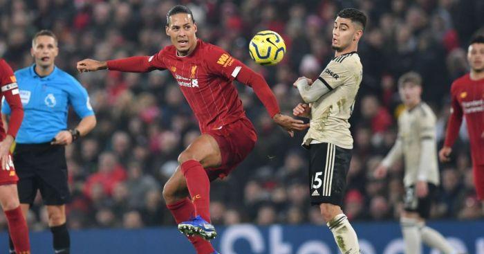 Virgil van Dijk Andreas Pereira Liverpool Man Utd