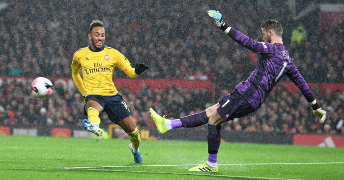 Pierre-Emerick Aubameyang Arsenal David de Gea Man Utd