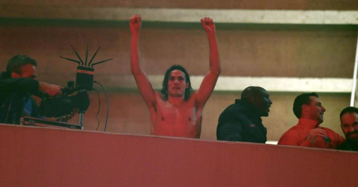 Edinson Cavani PSG Man Utd