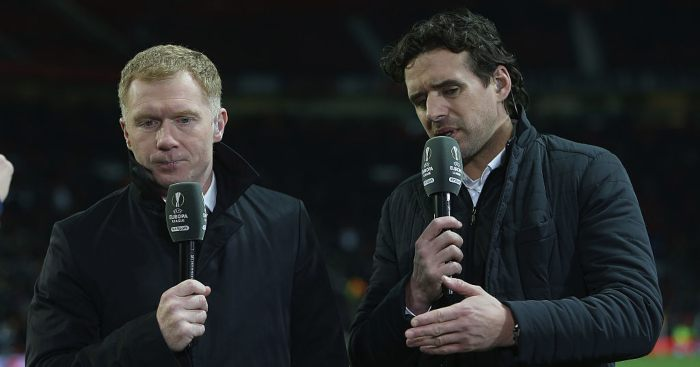 Paul Scholes Owen Hargreaves Man Utd