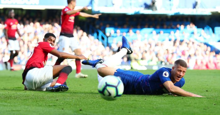 Marcus Rashford Ross Barkley Man Utd Chelsea