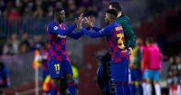 Ousmane Dembele Ansu Fati Barcelona Man Utd