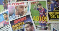 Lionel Messi Barcelona newspapers