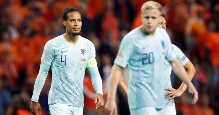 Virgil van Dijk Donny van de Beek Netherlands Man Utd