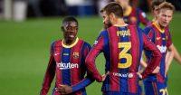 Ousmane Dembele Gerard Pique Barcelona Man Utd