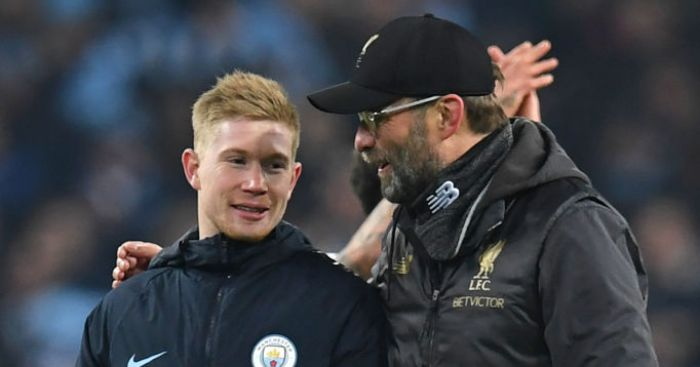 De Bruyne, Liverpool boss Klopp nominated for UEFA awards