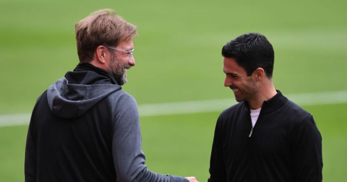 Jurgen-Klopp-Mikel-Arteta-Football365 Arsenal
