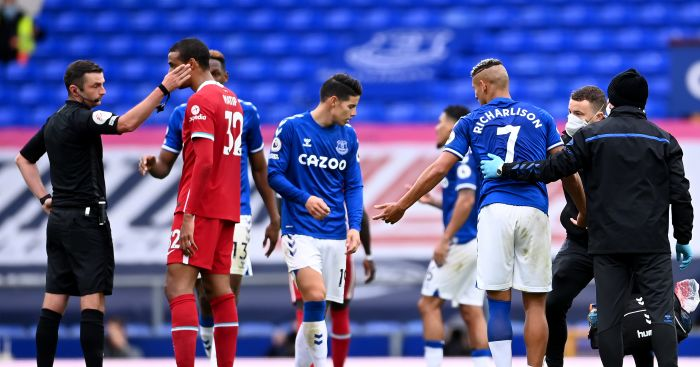 Richarlison red card Everton Liverpool