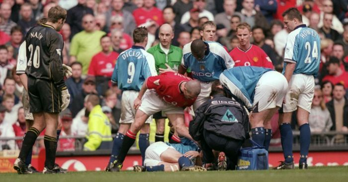 Roy Keane Alf-Inge Haaland Pickford Man Utd Man City