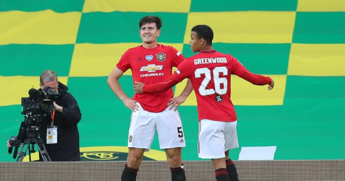 Harry Maguire Mason Greenwood Man Utd