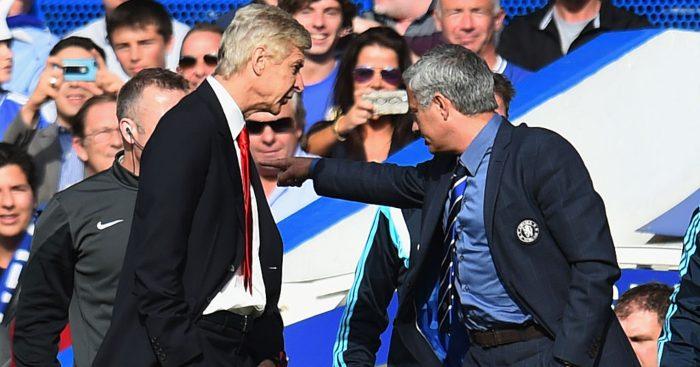 Arsene Wenger Jose Mourinho Arsenal Chelsea