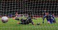Jamie Vardy goal Arsenal Leicester