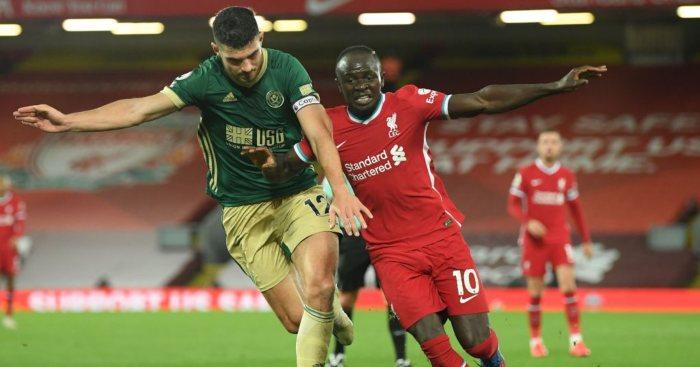 John Egan Sadio Mane Liverpool Sheffield United