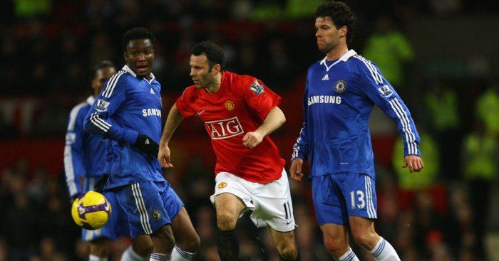 Ryan Giggs Michael Ballack Chelsea Man Utd