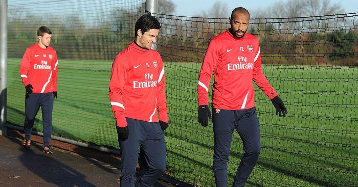 Mikel Arteta Thierry Henry Arsenal