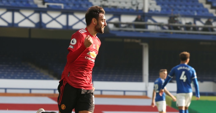 Everton 1 3 Manchester United Fernandes At The Double Football News