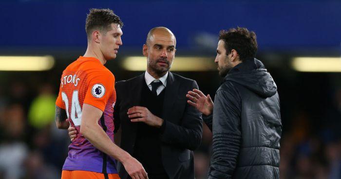 Cesc Fabregas John Stones Pep Guardiola Chelsea Manchester City