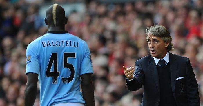 Mario Balotelli Roberto Mancini Manchester City