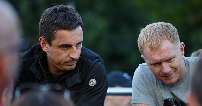 Paul Scholes Gary Neville Man Utd