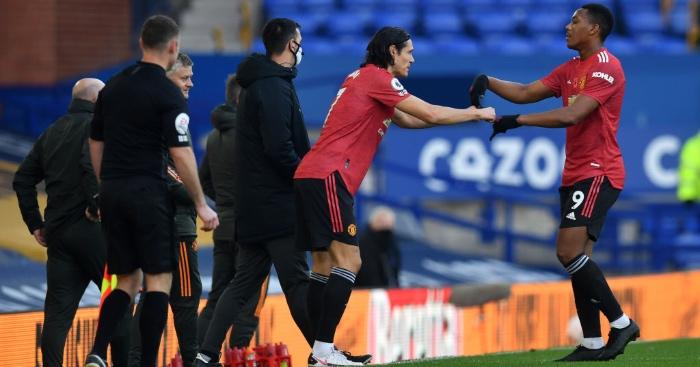Solskjaer hints at Martial change to accommodate Cavani at Man Utd