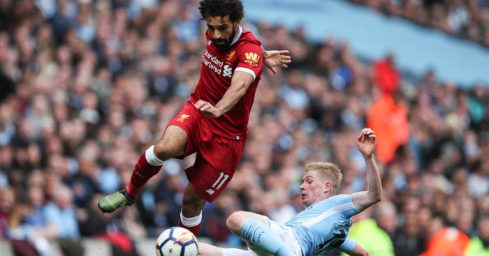 Mohamed Salah Liverpool Kevin de Bruyne Manchester City