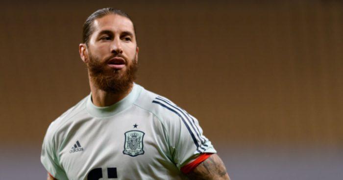 Sergio Ramos Real Madrid Spain Man Utd