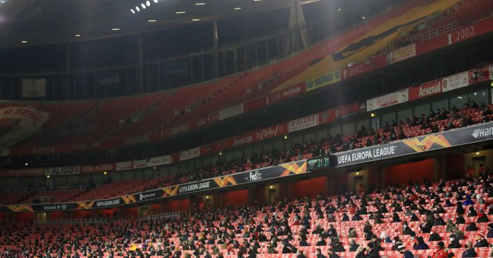 Arsenal fans return to Emirates Stadium