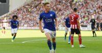 Harvey Barnes Leicester City Man Utd