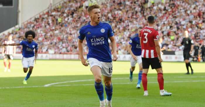 Harvey Barnes Leicester City Man Utd