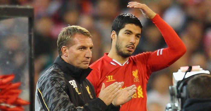Luis Suarez Brendan Rodgers Liverpool