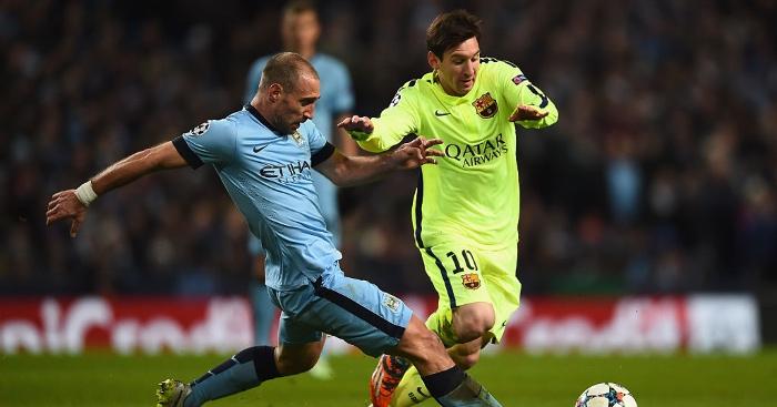 Zabaleta Messi Man City