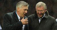 Carlo Ancelotti Sir Alex Ferguson Man Utd