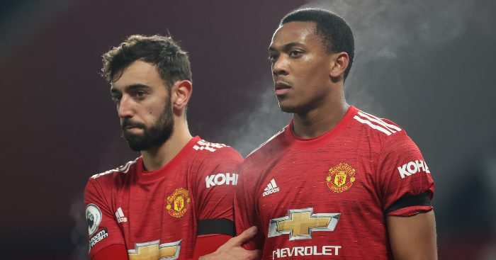 Anthony Martial Bruno Fernandes Man Utd